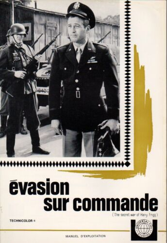 Paul NEWMAN - Sylvia KOSCINA french Pressbook SECRET WAR OF HARRY FRIGG