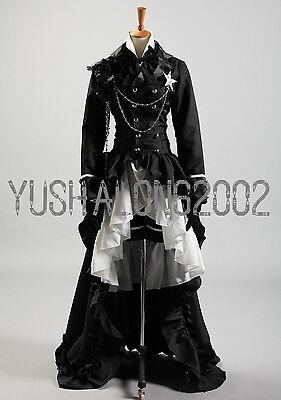 Kuroshitsuji Black Butler Folge 21 Ciel Cosplay Kostüm schwarz Anzug wig (Ciel Cosplay Kostüm)