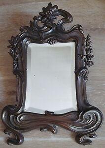 psyche miroir glace en bronze epoque art nouveau d but xx ebay. Black Bedroom Furniture Sets. Home Design Ideas