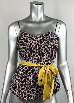 Belted Tube Top (Anthropologie Maeve Tube Top 2 Purple Geometric Belted Beautiful! )