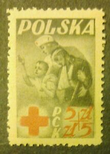 POLAND STAMPS MNH 1Fi428 ScB56 Mi471 - PRC Polish Red Cross, 1947, clean - Reda, Polska - POLAND STAMPS MNH 1Fi428 ScB56 Mi471 - PRC Polish Red Cross, 1947, clean - Reda, Polska