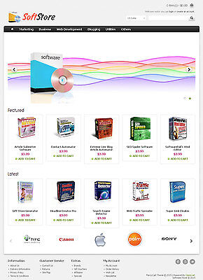 Software Store Website For Sale - 50 Products Preloaded