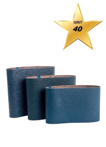 "Bona AAS467700403 BLUE 8"" Sanding Belts 7-7/8"" x 29-1/2"" Qty. 10 GRIT 40"