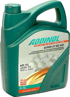 ADDINOL Super 2T MZ406 5 Liter (3,97€/L) Zweitaktöl 2-Takt API TC JASO FC 5L