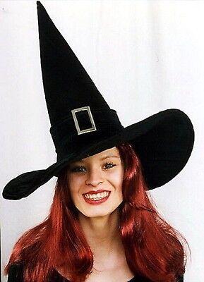 Hexenhut schwarz Spitzhut für Hexe Hexenkostüm Halloween