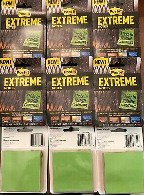 Post-it Extreme Notes 3 Color Stack Wholesale Lot Of 9 Stacks Free Shipping