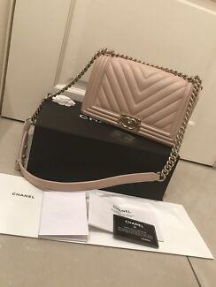 Authentic Chanel boy bag