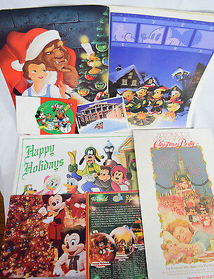Disney Christmas Photo Cards (Disney World Christmas Cast Member Lot Eyes Ears Magazines Photo Cards Desk)