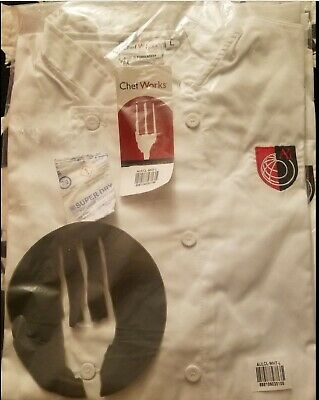 Chef Coat White Size Xs Chef Works Brand New With Ai Logo