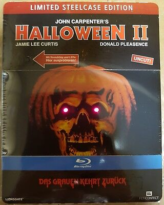 Halloween 2 , limited Steelcase with Light- and Soundeffects , uncut , NEW (Halloween 2 1981 Uncut Dvd)
