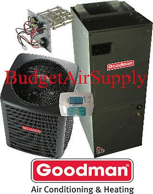 3 Ton 13 star-gazer Goodman  HEAT PUMP GSZ13036+ARUF43C14+Heat+ProgrambleTstat