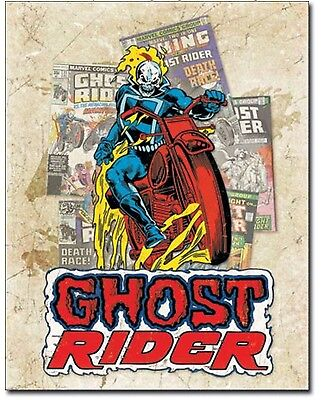 New Ghost Rider Metal Tin Sign Comic Cartoon Home Kids Wall Decor Superhero