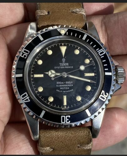 Vintage Tudor Oyster Prince Submariner Ref 7928 Black Gilt Dial 1963 - watch picture 1