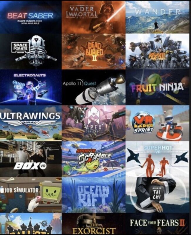 Full Game Library For Oculus Quest 100+ GAMES!!!
