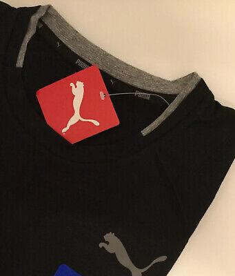 Mens Black Puma T Shirt New Small Rrp 19.99