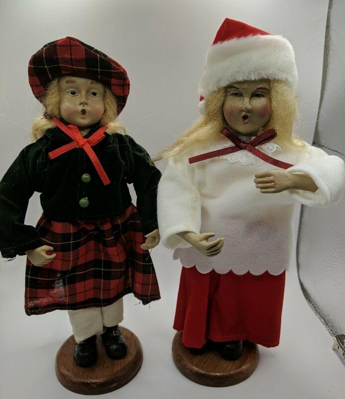 2 Vintage CHRISTMAS CAROLERS