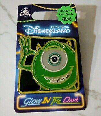 Disney Monsters Inc HKDL Hong Kong Disneyland Mike Wazowski Glow-in-the-Dark Pin