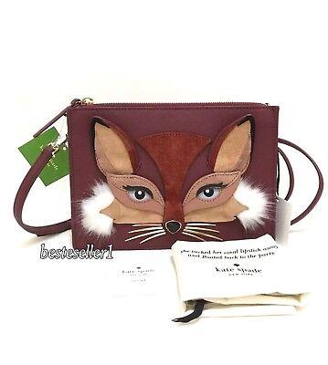 Foxy Purse - New Kate Spade So Foxy Clarise Fox Crossbody Purse Bag PXRU9243