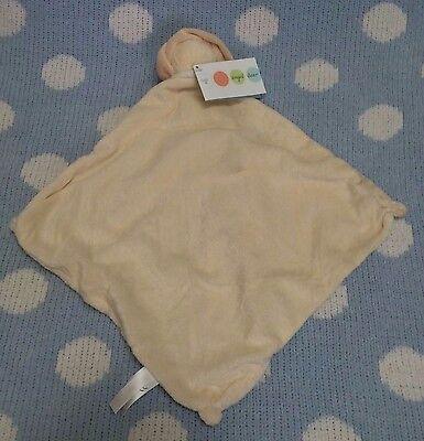 Angel Dear Tan Cream Lion Baby Security Blanket Soft Velour - $9.99