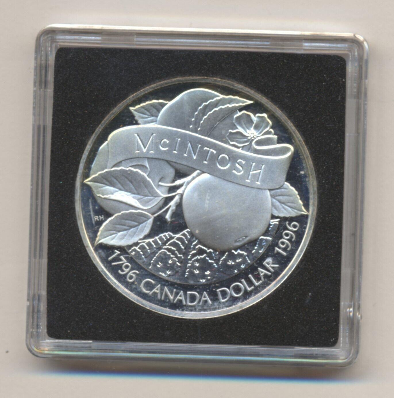 1996 CANADA SILVER DOLLAR MCINTOSH  - $32.00