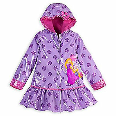 Minnie Mouse Jacket For Toddlers (Disney Store Rapunzel Tangled Rain Jacket for Girls Toddlers Coat NEW Purple)