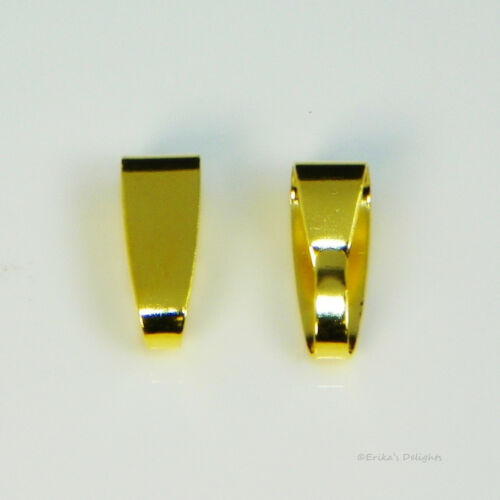 Gold Plated Snap On Bail 11x4mm 5pcs (#B16873)