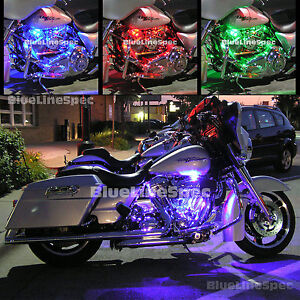LED Motorcycle Lights Glow Kit for Harley Davidson - MotorGlow 15-Color SMD36