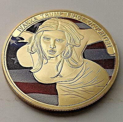 IVANKA Melania TRUMP Gold Coin Make America Great Again Stars & Stripes Donald