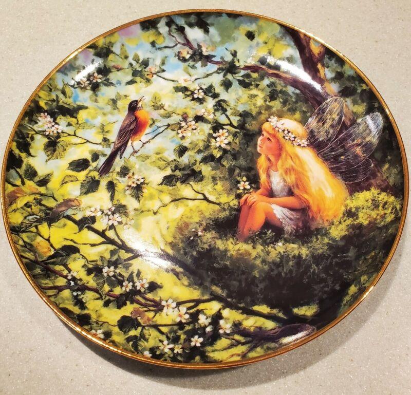 "Danbury Mint ""Springtime Serenade"" #D4342 - Enchanted Garden Plate Ltd Edition"