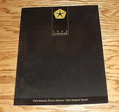 - Original 1992 Chrysler New Yorker Sales Brochure 92 Fifth Avenue Salon