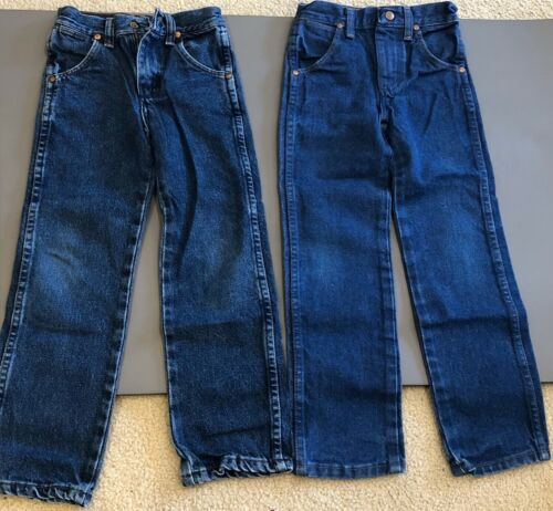 3 PAIR Kids Blue Jeans Wrangler and Authentic Jean. Size 6 slim.
