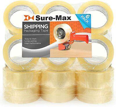 Sure-max Premium Carton Packing Tape 2.0 Mil 330 Feet 110 Yards - Clear - 18 R