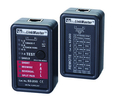 Ideal Linkmaster 62-200 Data Cable Tester Cat 355e6 Twisted Pair - New In Pkg