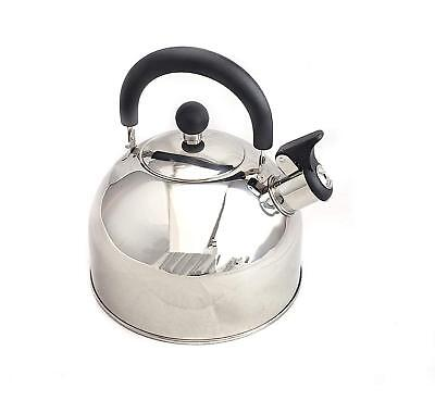Classic Stainless Steel Whistling Tea Kettle 2.5qt/2.37l