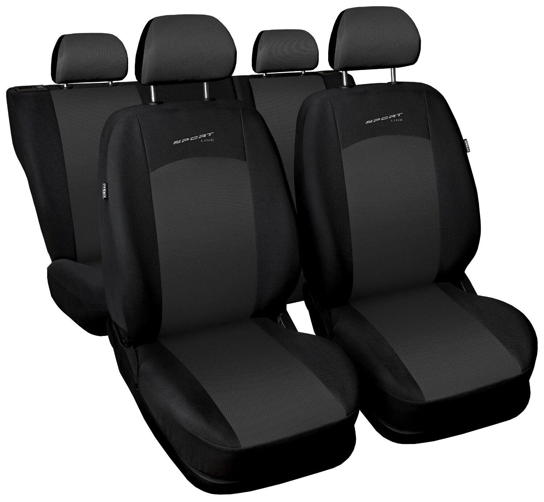 Suzuki Swift Full Set Luxury BLACK /& RED Trim Car Seat Covers Protectors
