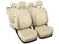CAR SEAT COVERS full set fit Vauxhall Corsa leatherette Eco leather black