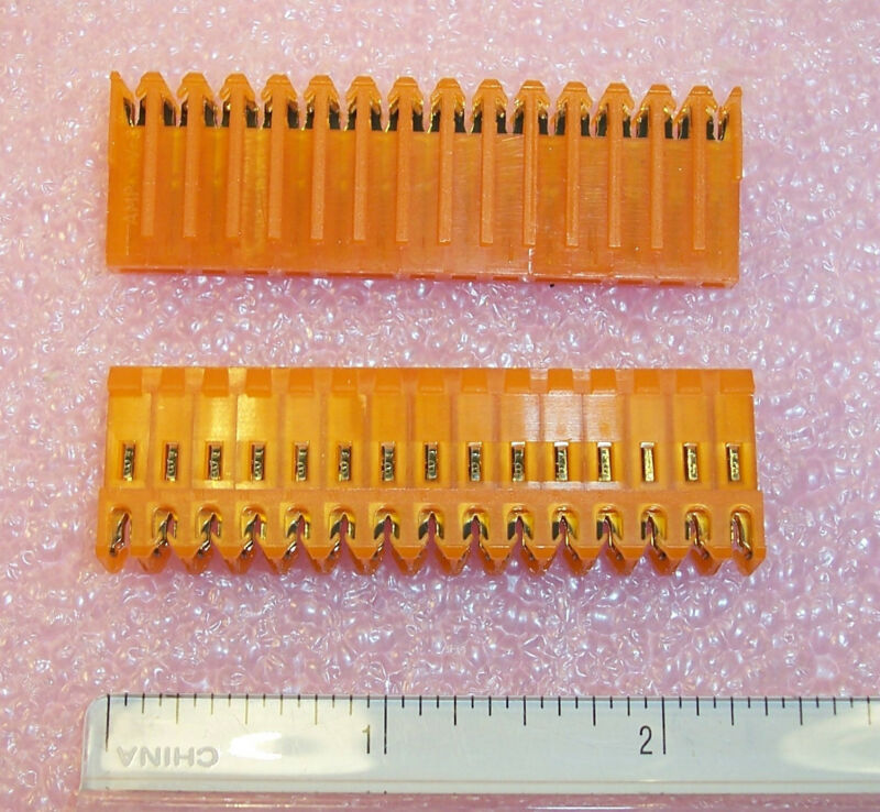 QTY (20) 4-640599-5 TYCO 15 POSITION  IDC MTA-156 CONNECTORS 3.96mm PITCH  18AWG
