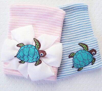 NEW Newborn Sea Turtle Hospital Hats, Turtle coming home hat