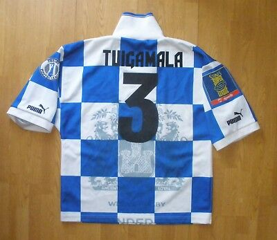 TUIGAMALA WIGAN WARRIORS LB PUMA 1995-1996 RUGBY SHIRT TRIKOT CAMISETA MAGLIA , used for sale  Shipping to South Africa