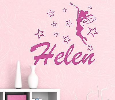 FAIRY STAR personalised WALL ART DECAL PRINCESS sticker graphic FAIRY TALE NAME