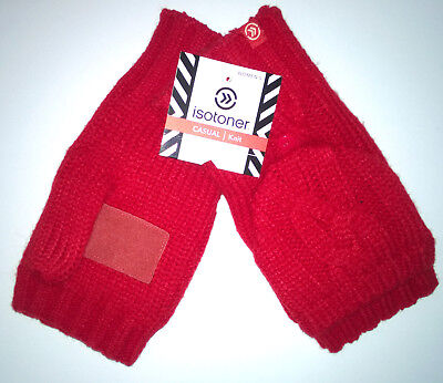 Flip Top Mittens - ISOTONER Signature Women's Solid Chunky Cable Flip Top Mittens 1SZ Retails: $34
