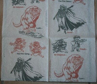 DAVID BOWIE - Labyrinth napkin. Rare.  Great collector's stocking filler.