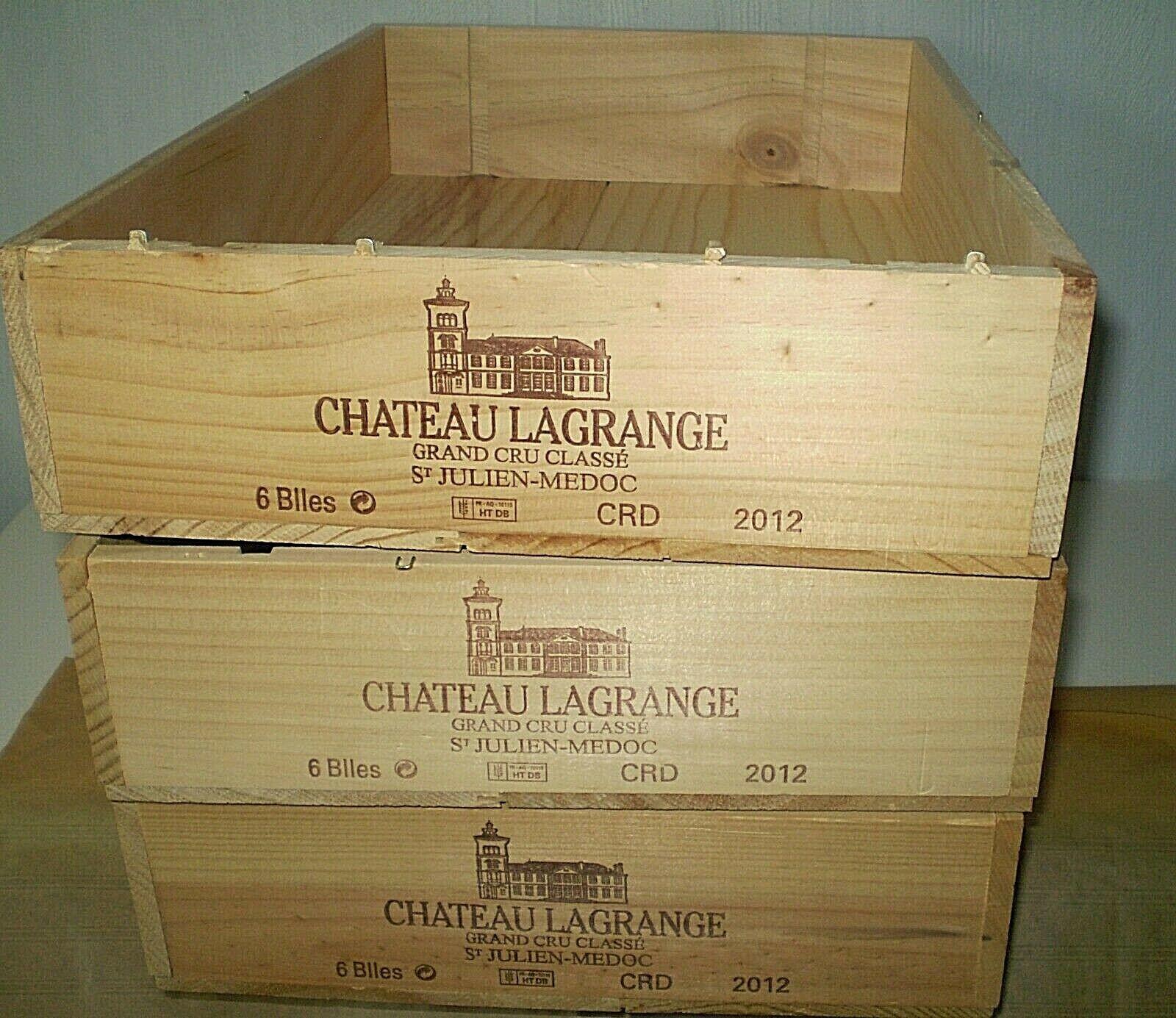 3 caisses a vin 6 bouteilles chÂteau lagrange grand cru classe st julien medoc