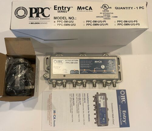 PPC MoCA 5-Port Active Return Splitter PPC-5M-U/U