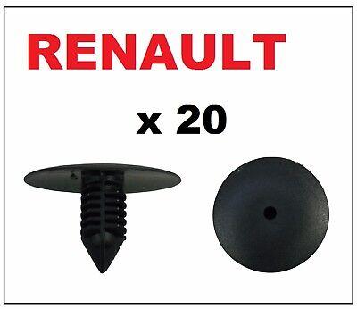 20 x Renault Wheel Arch Liner Splash Guard Lining Plastic Fir Tree Clips