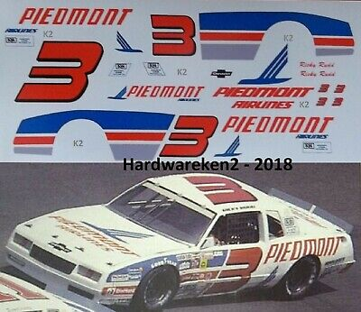 NASCAR DECAL # 3 PIEDMONT AIRLINES 1983 CHEVY MONTE CARLO RICKY RUDD