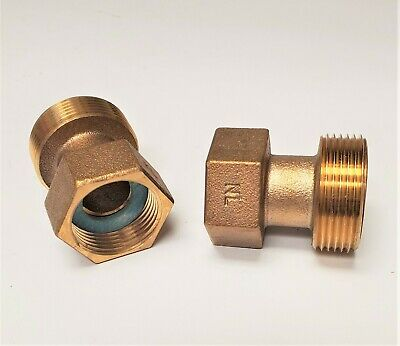 Brass Water Meter Adapter Install 58 X 34 7.5long Meter To 1 Setter A24