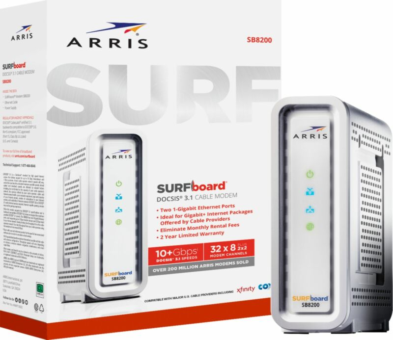 ARRIS - SURFboard 32 x 8 DOCSIS 3.1 Cable Modem - White