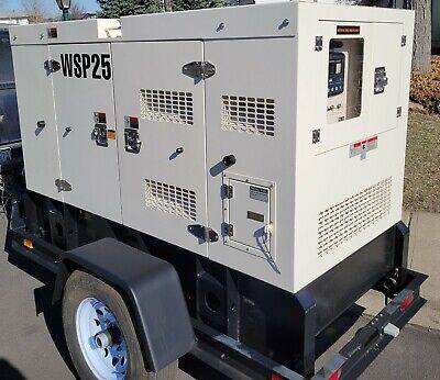New Wanco Wsp 25kva Sound Enclosed Trailer Mounted Generator New Warranty