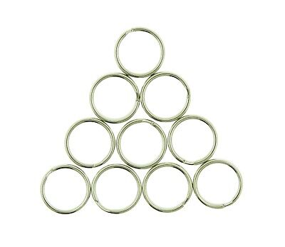 10 Pieces/Pack 15mm Nickel Plated Steel Split Key Rings Key Chains Pet Tags Chain 15 Mm Rings